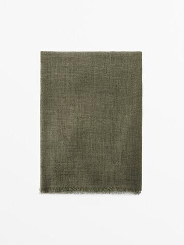 Écharpe longue en pure laine