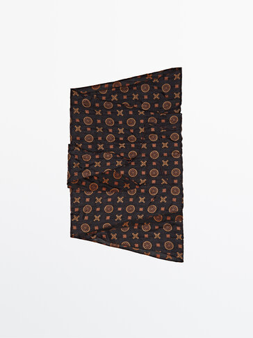 100% silk printed bandanna Limited Edition