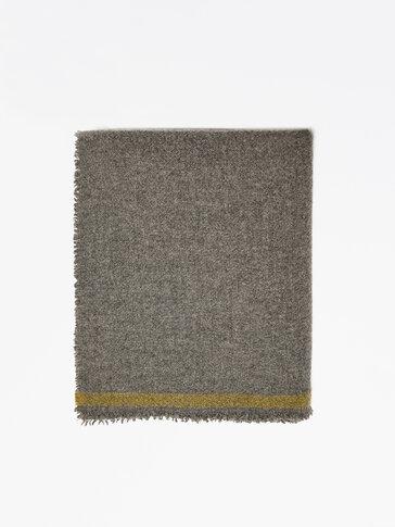 Écharpe en laine à rayures contrastantes
