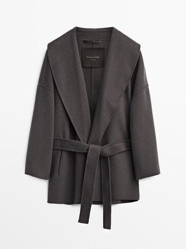 Short handmade wool coat
