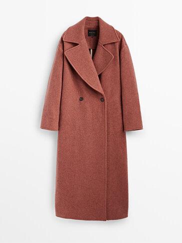 معطف طويل من الصوف والكشمير إصدار محدود