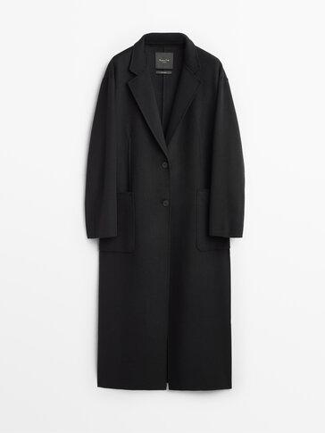 Handcrafted oversize wool coat
