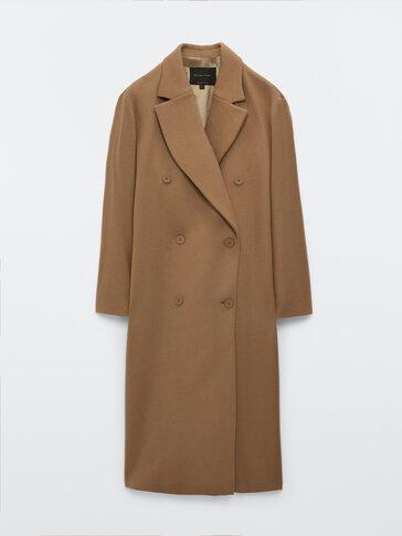 Camel long wool coat