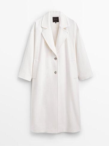 White long wool coat
