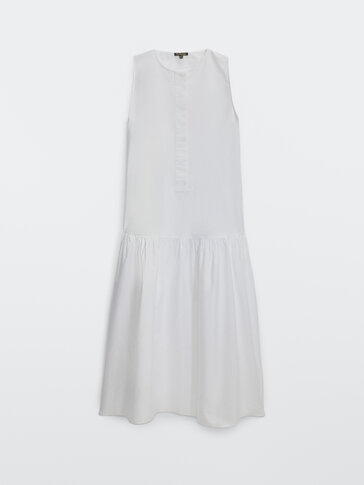Vestido largo popelín