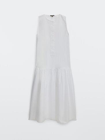 Robe longue en popeline