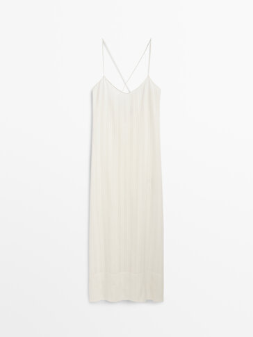 Long strappy camisole dress