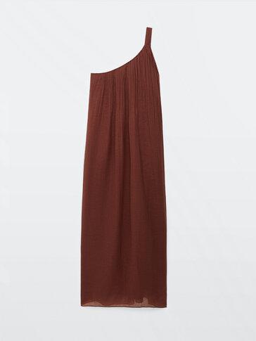 Vestido asimétrico 100% ramio