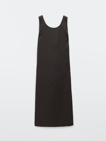 100% Linen dress with criss-cross back