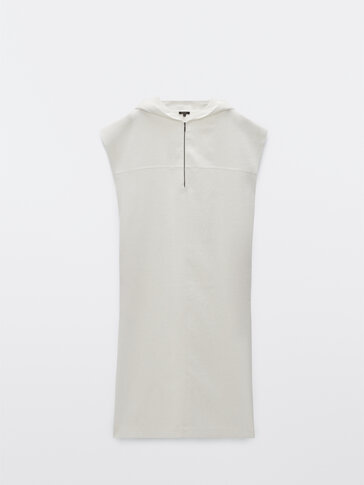 Linen hooded dress