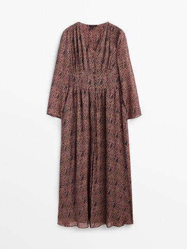 Long paisley print dress