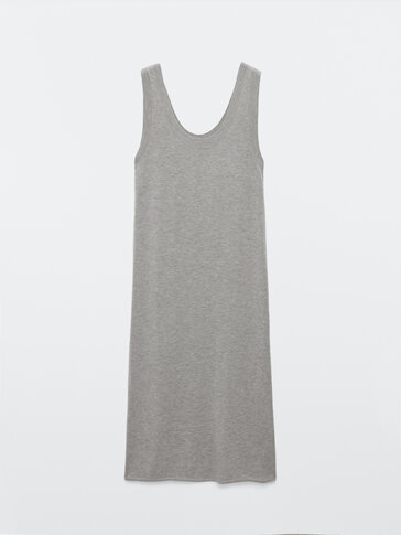 Knit dress with straps