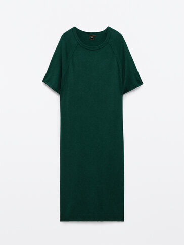 Short sleeve dress with seam detail