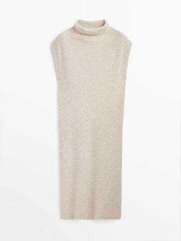 Cashmere wool knit dress