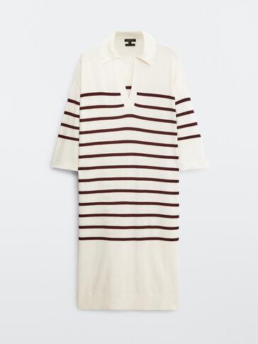 فستان منسوج مخطط