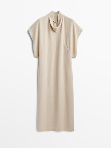 Long dress with crossover chest Limited Edition