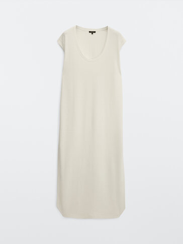 Linen and cotton long dress