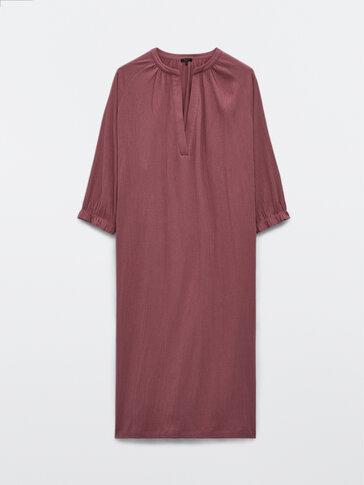 Flowing cotton crepe dress