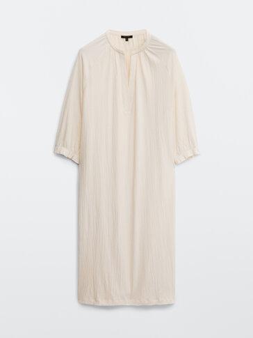 Свободна рокля от памучен креп
