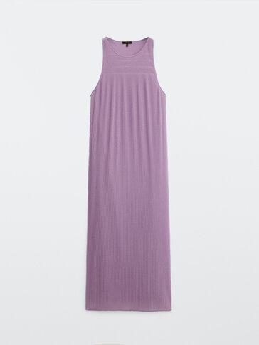 Plisēta, gara kleita ar lencēm