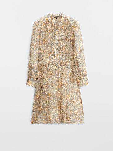 Short paisley print dress