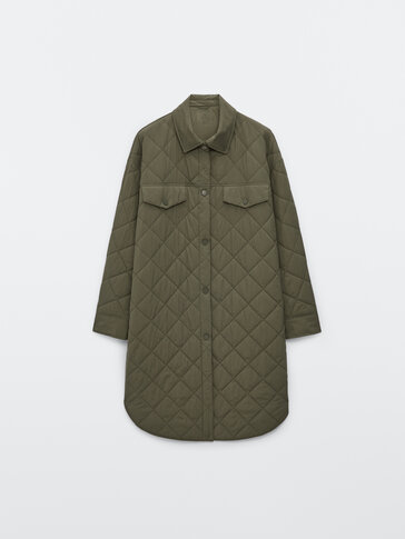 Long quilted overshirt