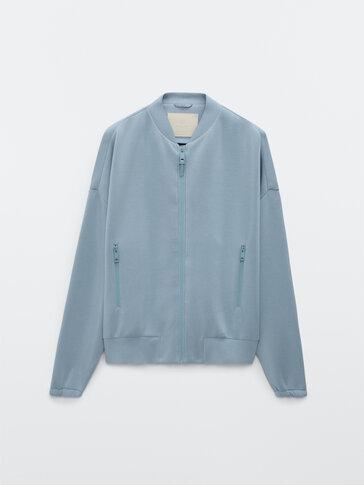 Neoprene bomber jacket
