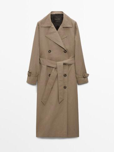 Dobbelspent trench-coat