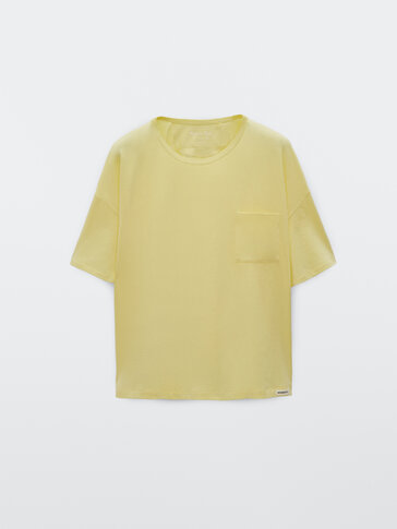Katoenen T-shirt met zak