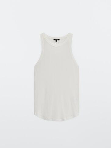 Modal cotton strappy top