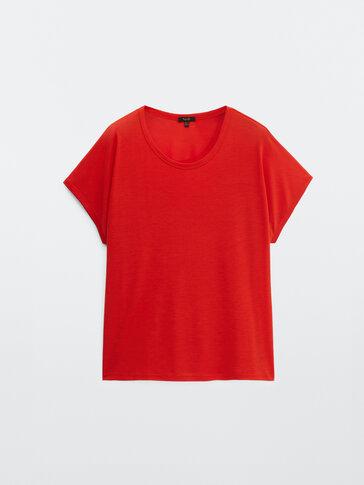 쇼트 슬리브 라이오셀 티셔츠