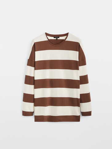 Striped 100% cotton T-shirt