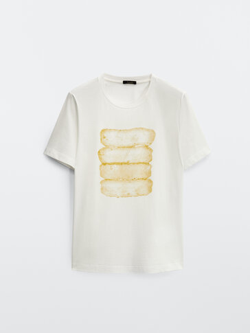 Watercolour print T-shirt