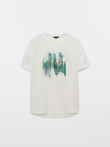 Short sleeve brushstroke T-shirt
