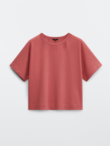 Sweatshirt decote redondo algodão