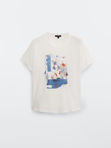 Camiseta estampada 100% algodón
