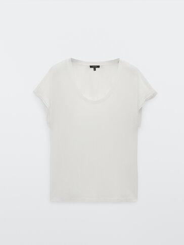 Camiseta fluida manga corta