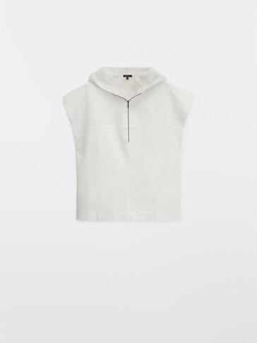 Ärmelloses Sweatshirt mit Kapuze