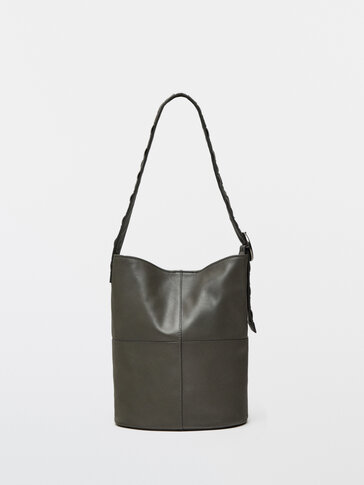 Nappa leather braided strap box bag