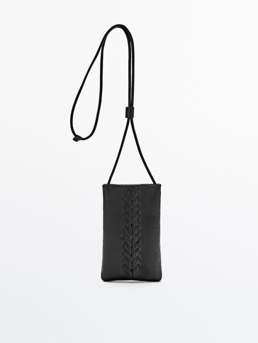Woven leather mobile phone case - Limited Edition