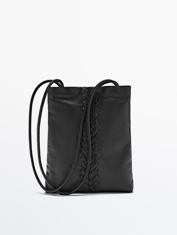 Leather bag with a braided detail Limited Edition