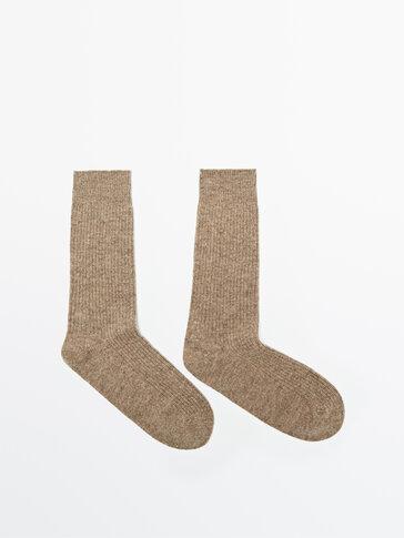 Cashmere wool socks