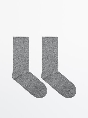 Cotton and wool socks