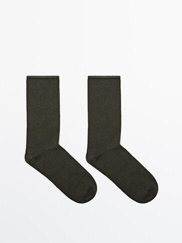 Sokker i ull og bomull