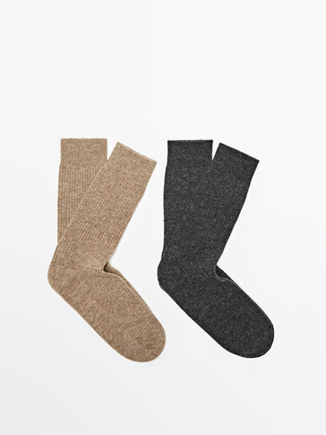 Pack of wool and cashmere socks