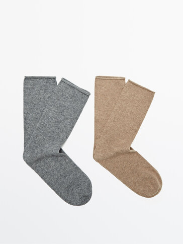 Pack of cotton and wool socks