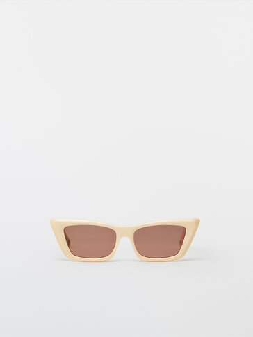 Cream cateye sunglasses