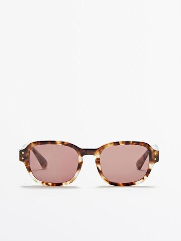 Square tortoiseshell sunglasses