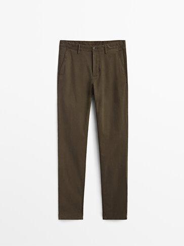 Regular fit pamuklu chino pantolon