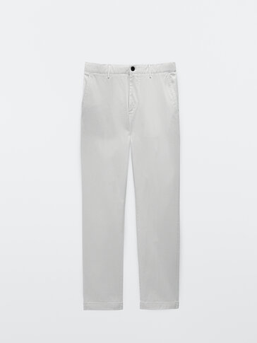 Cotton twill jogging fit trousers